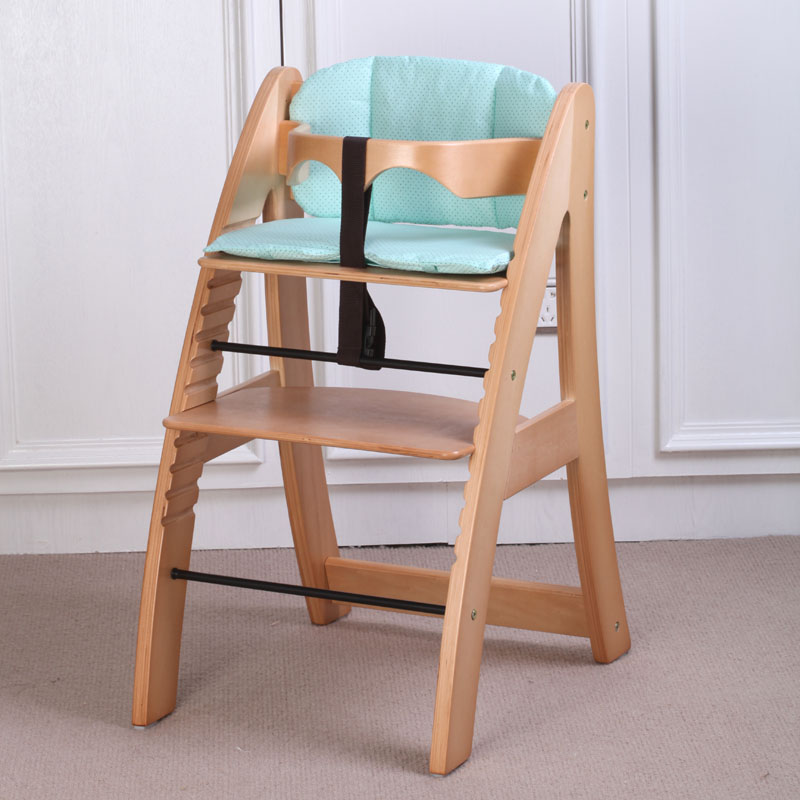 Solid wood export baby feedingBaby child dining chair solid wood white multifunctional child dining chair adjustable 150 bearing dining room chair contracted europe type solid wood dining chair the pu chair chair korean meal