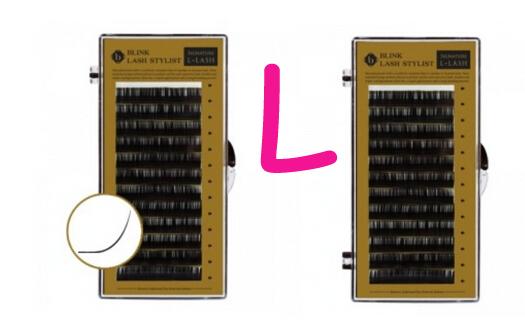 Pestanas falsas do Vison Pestana Extensão, L onda Chicote Do Olho, comprimento 8-15mm, Espessura de 0.10/0.15/0.20, Salão de Escolher, 12 linhas