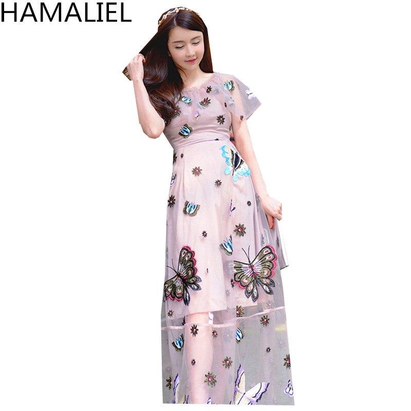 2018 Hohe Urlaub Qualit Strandkleid Frauen Luxus t Schmetterling Hamaliel Stickerei R b7fgI6yvY