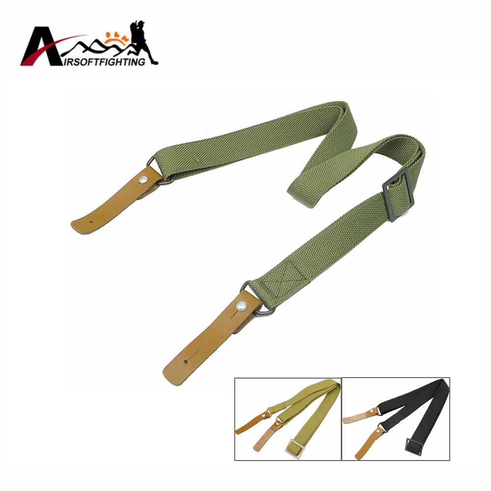 1 unids Tactical Single Point Rifle Sling Bungee Rifle Sling System Correa Ajust