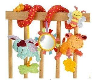 Кэндис го! новое поступление горячей продажи ELC животных ребенок кровать круг/кровать круглая многофункциональная детская плюшевые игрушки с BB приборной 1 шт.