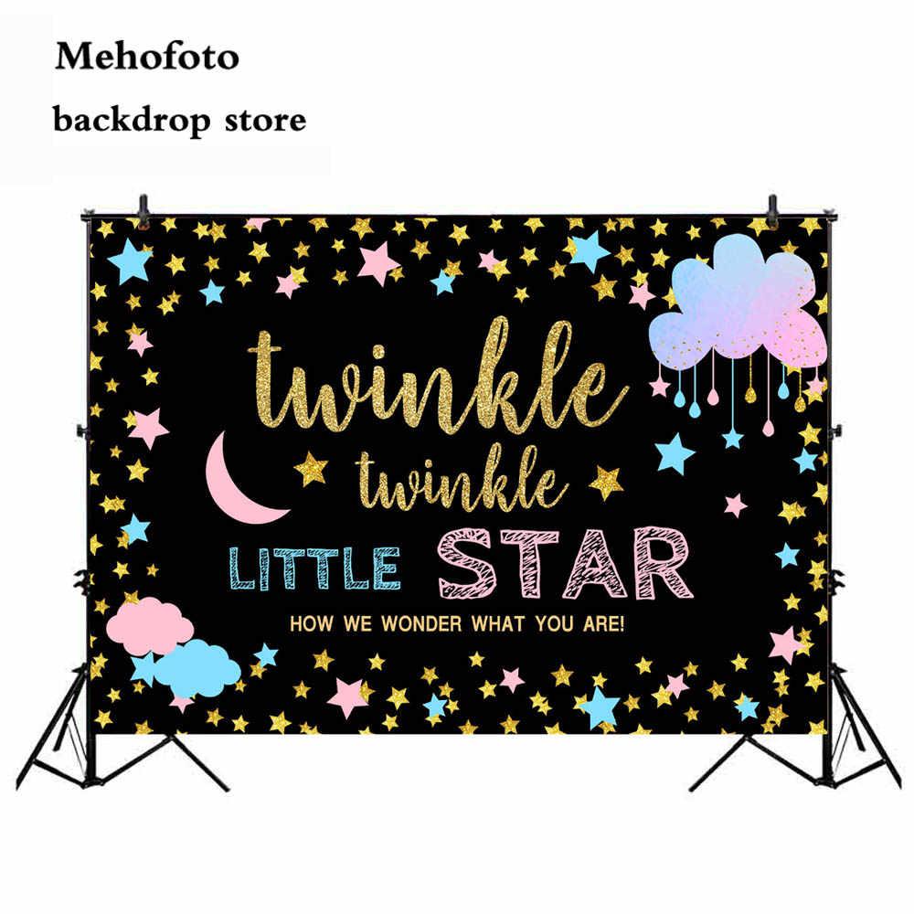 Фото MEHOFOTO мерцающий фон для фотосъемки с маленькой звездой новорожденного ребенка