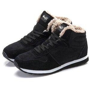 Image 2 - 2019 Mens Sneakers Winter Plush Snow Casual Shoes Men Keep Warm Shoes Male Sneakers Outdoor Walking Krasovki Zapatillas Hombre