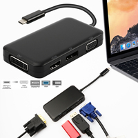 USB C Type C 3.1 Hub Male to DisplayPort DP 4K HDMI 4K DVI 1080P VGA 1080P Splitter Hub Adapter for Macbook USB C Hub