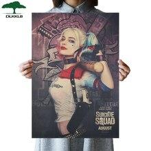 DLKKLB DC Vintage Harry Quin Suicide Squad payaso película femenina cartel Bar Café decoración del hogar papel Kraft pegatinas de pared
