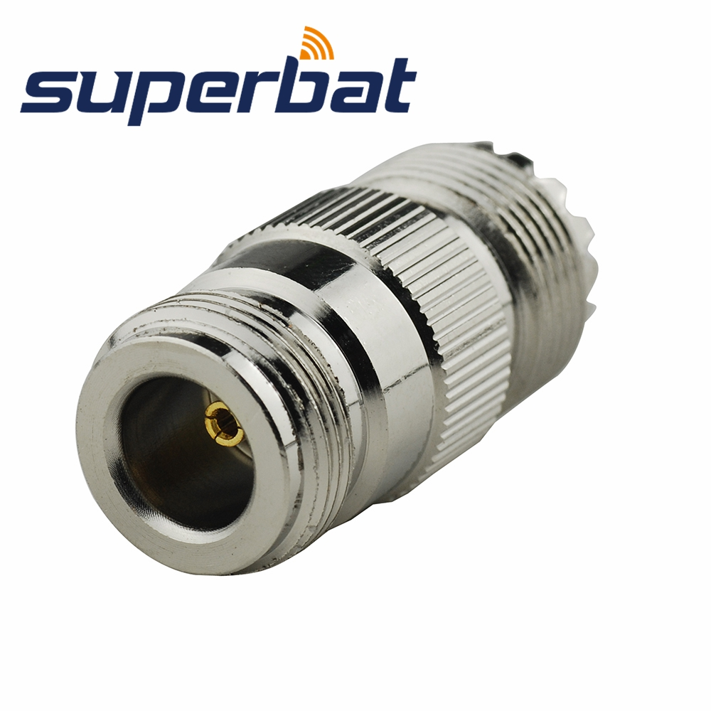 Superbat RF Coaxial Connectors N-UHF Adapter N Female Jack To UHF Jack Straight