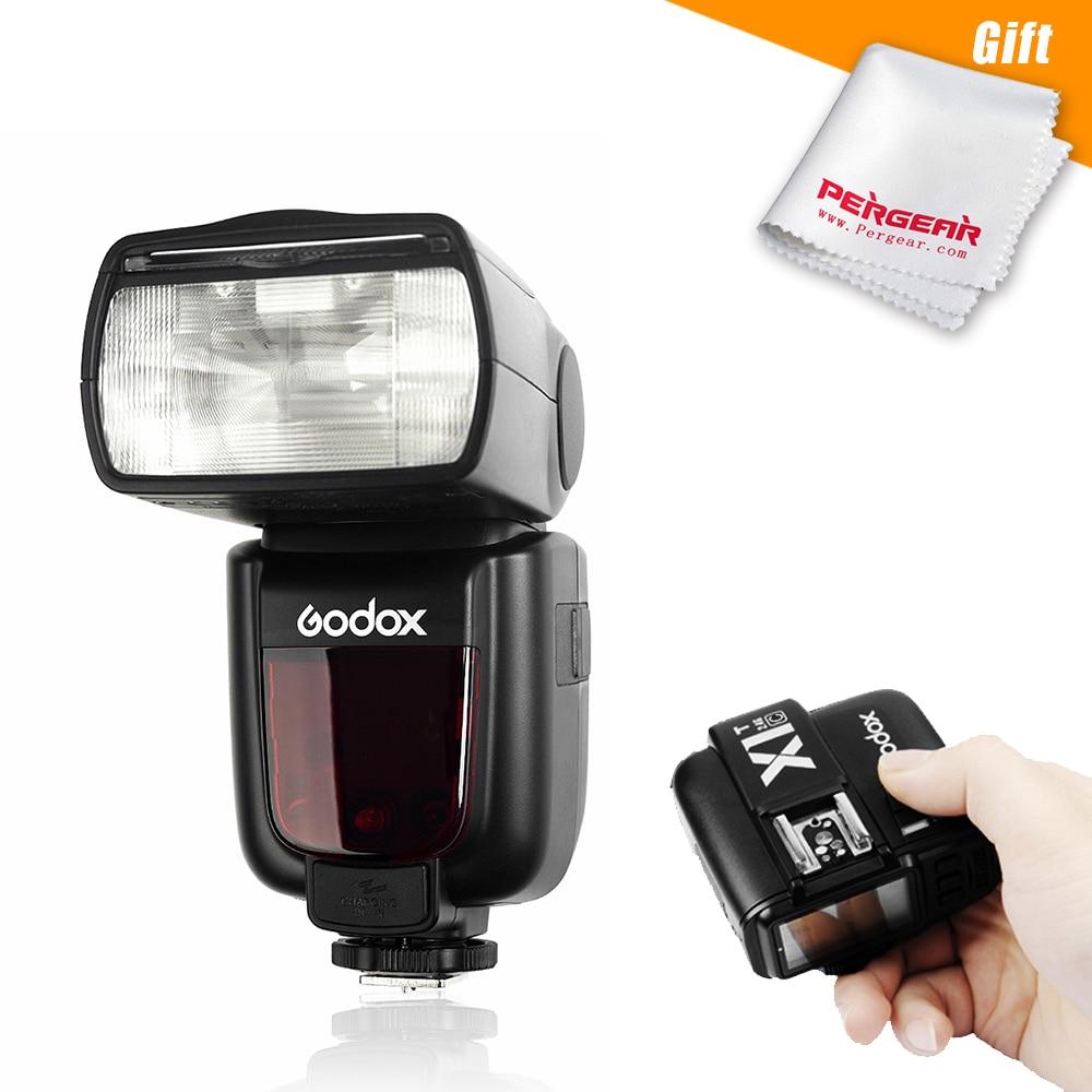 Godox TT600 GN60 Speedlite Camera Flash Light for Pentax Canon Nikon + Optional X1T-C Transmitter for Canon or X1T-N for Nikon godox v860iic v860iin v860iis x1t c x1t n x1t s hss 1 8000s gn60 ttl flash speedlite 2 4g transmission godox softbox filter