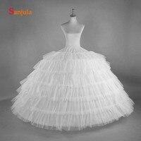 6 Hoops 6 Layers Princess Petticoat Women Wedding Dress Accessories Girls Quniceanera Dress Underskirt vestido de tul