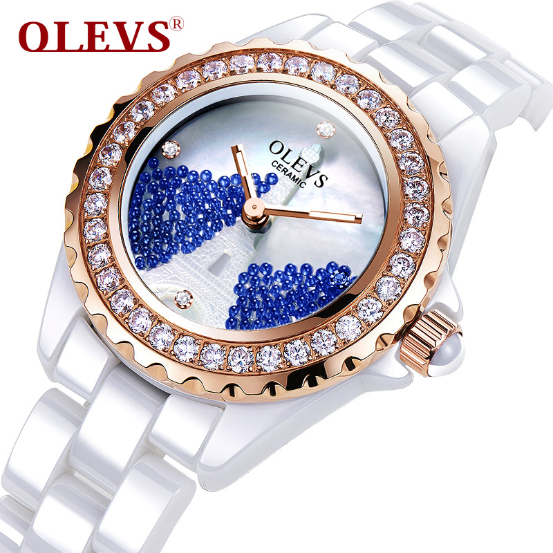 Ladies Designer Watches Luxury Watch Women 2017 OLEVS Brand Elegant Women Ceramic Waterproof Quartz-Watch relogios feminino mance ladies brand designer watches