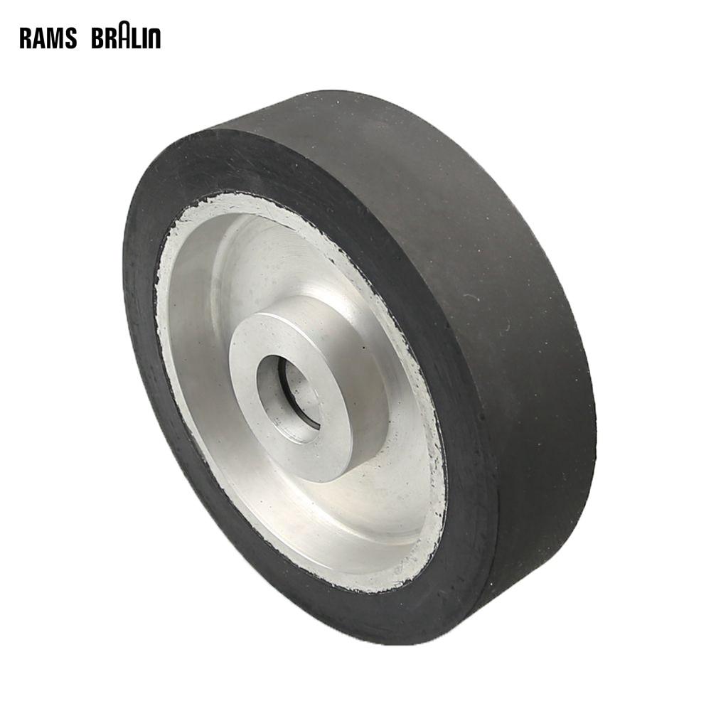 200*50mm Solid Belt grinder Rubber Contact Wheel Abrasive Belts Set Inner Hole Customized цена