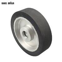 200 50 25mm Flat Surface Belt Grinder Rubber Contact Wheel Abrasive Belts Set