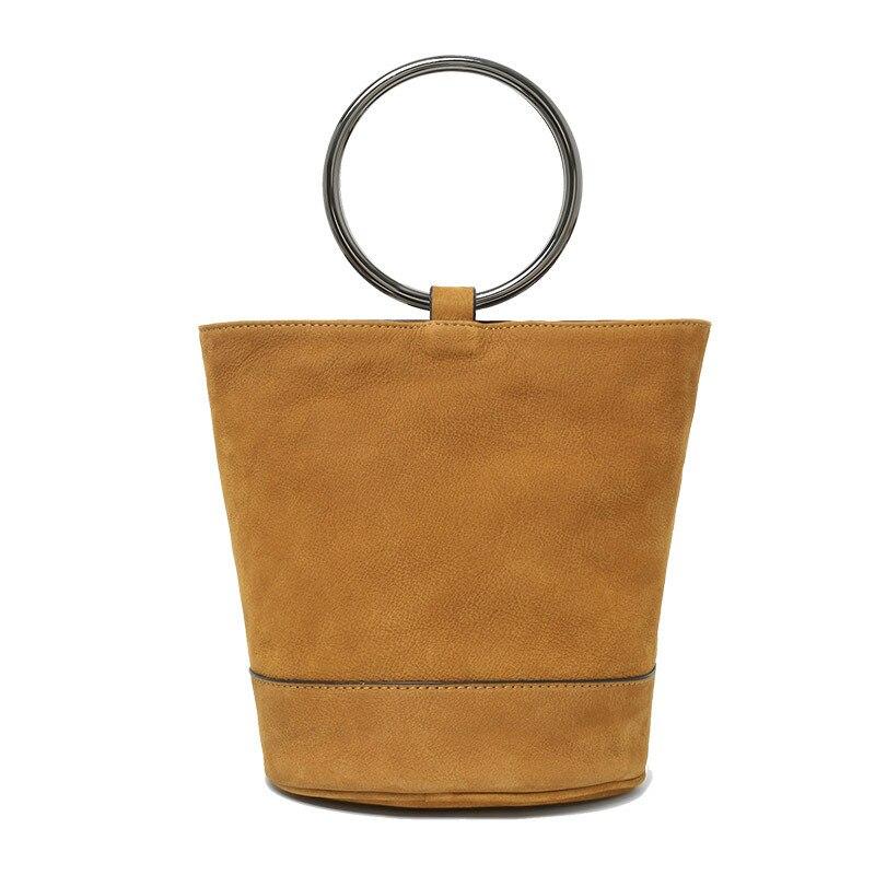 New Arrival Genuine Leather Bucket Bag For Women Real Leather String Shoulder Bag Girl Sling Crossbody Soft Bag Casual Tote F282 string sling pack