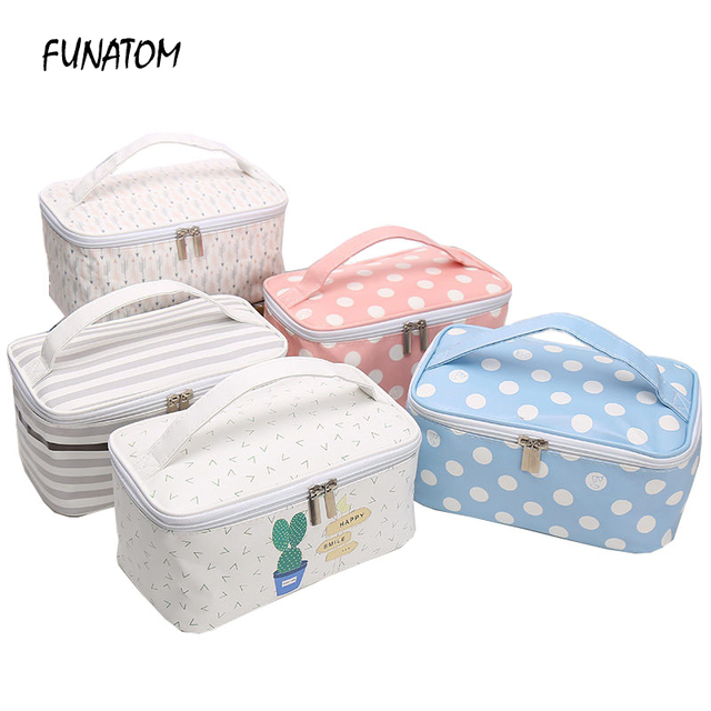 7c9a540f98 Cosmetic Bags Cactus Makeup Bag Women Travel Organizer Professional Storage  Brush Necessaries Make Up Case Beauty Toiletry Bag