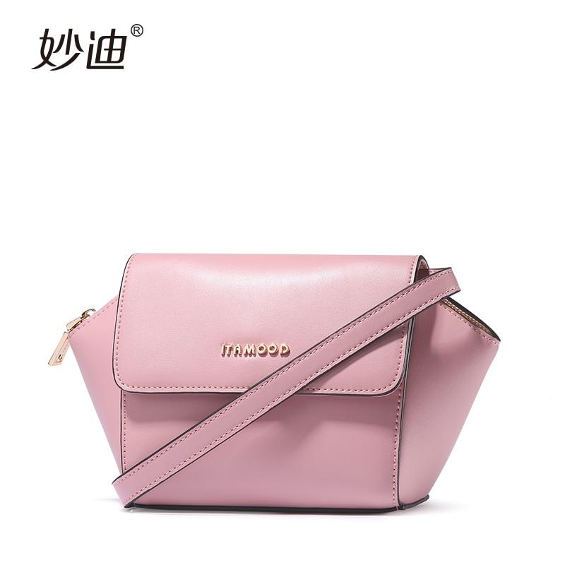 ФОТО A2005 MIAODE Famous Brand 2017 Fashion Shoulder Bag Women Bolsa Femininas Small Bag Crossbody Genuine Leather Trapeze Handbag