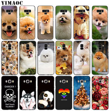 YIMAOC Pomeranian dog dogs Soft Silicone Phone Case for Samsung Galaxy A6 Plus 2018 A3 A5 2016 2017 Black flower Note 9 8 Cover