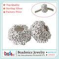 Beadsnice ID28465 original prata 925 beads europeus atacado sólidos grânulos de prata espaçador de tomada de jóias finas