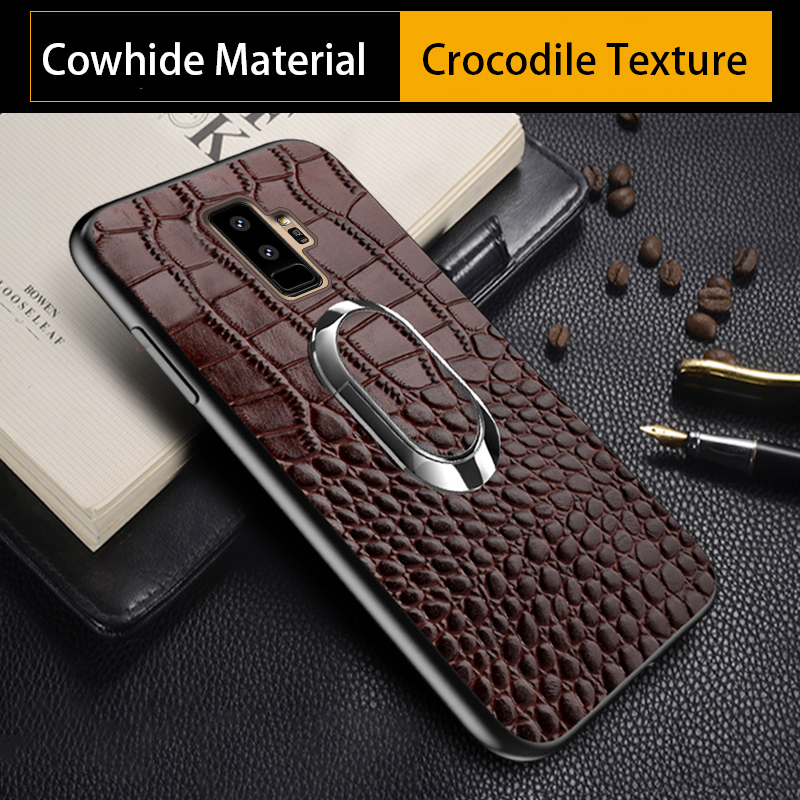 Phone Case For Samsung a5 2017 For S7 S8 S9 Plus Note 8 9 Case Crocodile Texture Bracket For samsung a3 a7 a8 j3 j5 j7 2017 case
