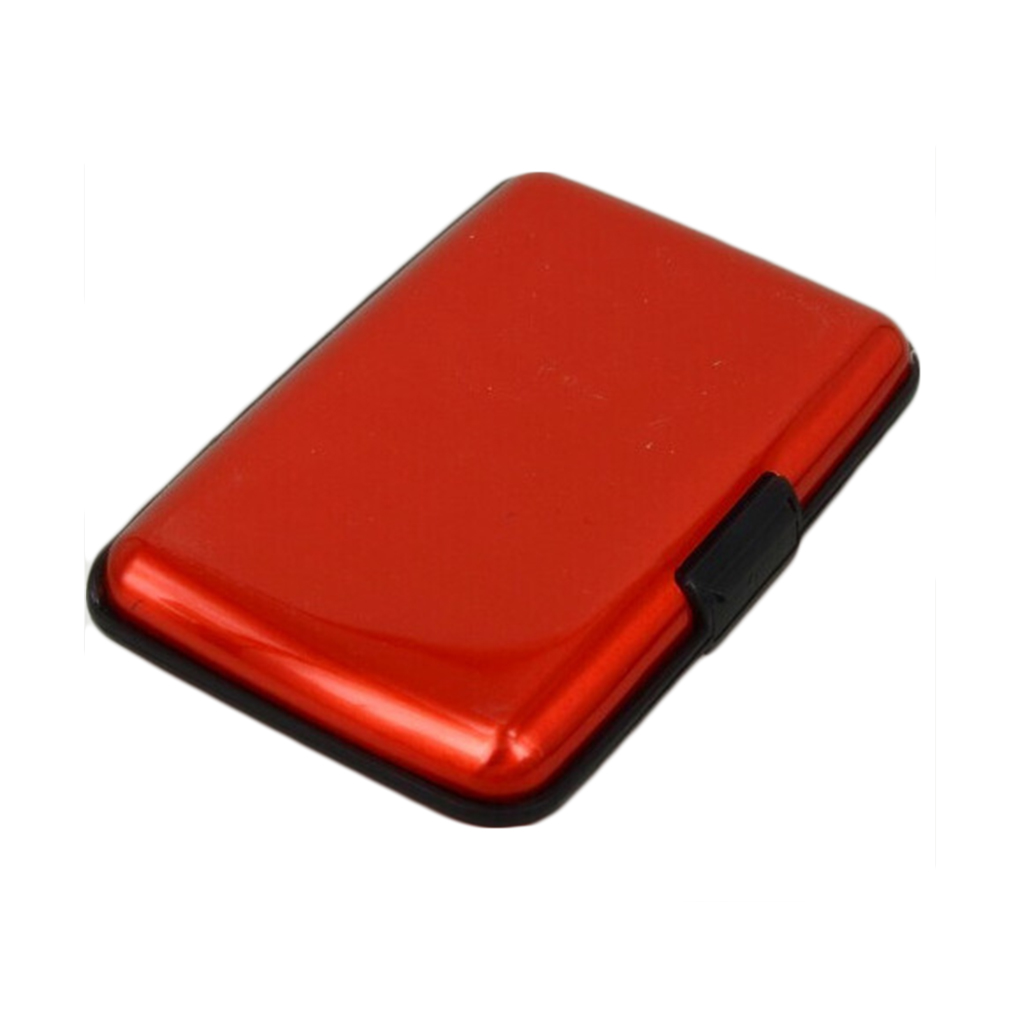 Portable Business ID Credit Card Holder Wallet Pocket Aluminum Metal Shiny Side Anti RFID Scan Cover цены