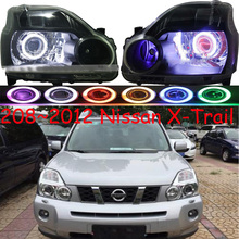 2pcs car Head light For X Trail Rogue Headlights 2005~2007/2008~2012year rogue headlight x trail xtrail HI LO HID xenon