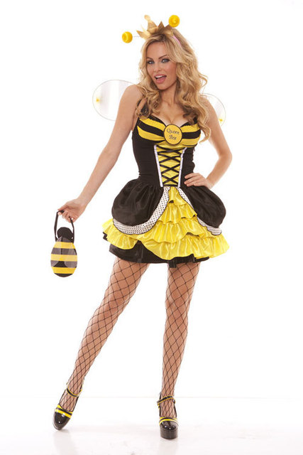 sexy queen bee adult costume naughty sexy fancy dress