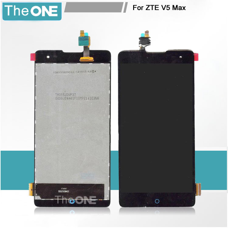 Free DHL Black LCD for ZTE V5 Max LCD Display With Touch Screen Digitizer Glass Assembly Replacement Parts