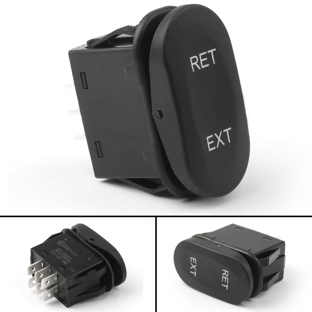 Areyourshop Rocker Switch 6Pin ON-Off-ON Momentary 125V/16A 250V/10A 37mm SCI Boat Car 1/4PCS Wholesale Rocker Switch 4pcs lot 20mm 3pin on off on g115 round boat rocker switch 6a 250v 10a 125v car dash dashboard truck rv atv home
