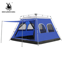 GAZELLE Camping Tent 5 8 Person Hydraulic automatic open tent Outdoor Large Travelling Picnic Car Tent waterproof family tent
