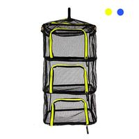 Herb Drying Rack Net Mesh Tray For Fish Vegetable Hanging Holder Dryer 4 Layer Mesh For Camping Foldable Zippers Outdoor Tool