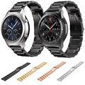 Correa de acero inoxidable para samsung gear dahase s3 banda pulseras para el engranaje de reemplazo s3 classic frontera smart watch 4 colores