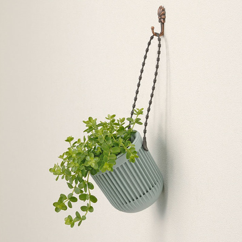 Creative Basket Wall Hanging Flower Pot Tillandsia Rattan Planter Bonsai Stand Cactus Orchid Cachepot Balcony Garden Decor