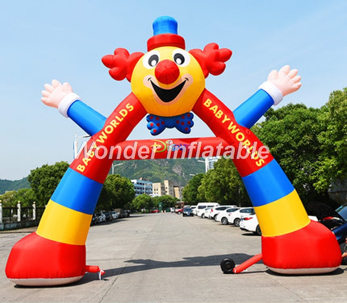 Customized cute inflatable clown balloon arch inflatable joke cartoon model for advertising in Party DIY Decorations from Home Garden