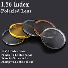 1.56 Index Aspheric Polarized Sunglasses Prescription Lens CR-39 Myopia Presbyopia UV Protection Sun Glasses Lens 2 PCS RS039