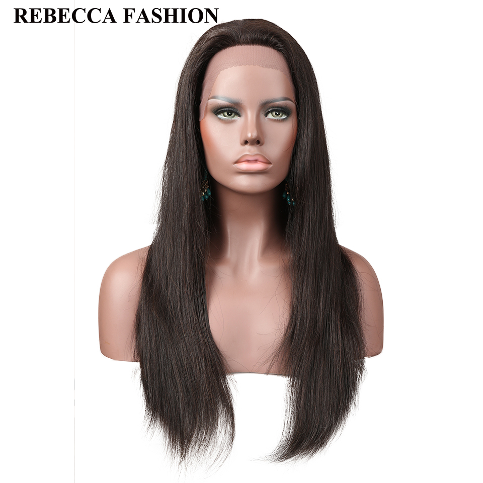 Rebecca Hair Lace Front Human Hair Wigs Brazilian Lace Wig Straight Remy Human Hair Wig 10-20 Inch Natural Color Free Ship