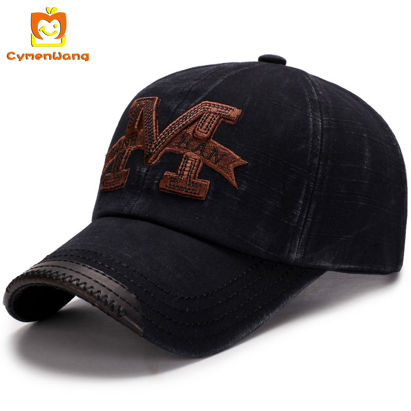Cymenwang Letter Baseball Cap Men Adjustable Cap Casual Cotton Fishing Women Brand Snapback Caps Hip Hop Vintage Dad Hat Cy8116