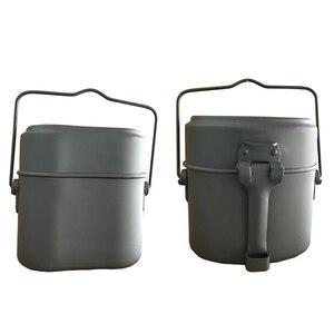 Image 5 - Армии Коробки для обедов 3 шт. в 1 Открытый Кемпинг дорожные столовые приборы, WWII, Германия военный комплект беспорядок Столовые чайник Пот Еда чашу