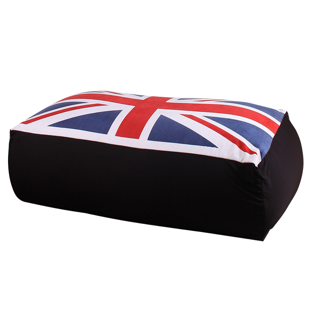 LEVMOON Chair Beanbag-Sofa-Chair Flag-Seat Zac-Bean-Bag Without-Filling Bed-Cover UK