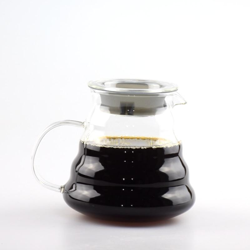 1PC Free Shipping Espresso Coffee Server Glass Coffee Pot Hario 500Ml Coffee Server