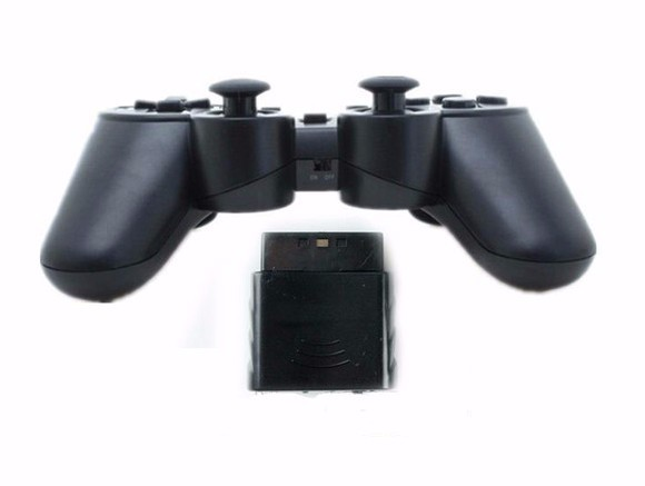 High-Quality-Black-for-PS2-Wireless-Game-Controller-for-Sony-for-PS2-Wireless-Controller-Gamepad-with