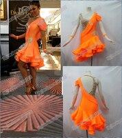NEW!!! High Quality.Latin dance dress,tango salsa,latin dance wear, Salsa Tango Rumba Cha Cha dance dress skirt LD 1200