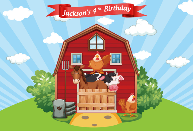 background for photography red barn farm animal birthday party