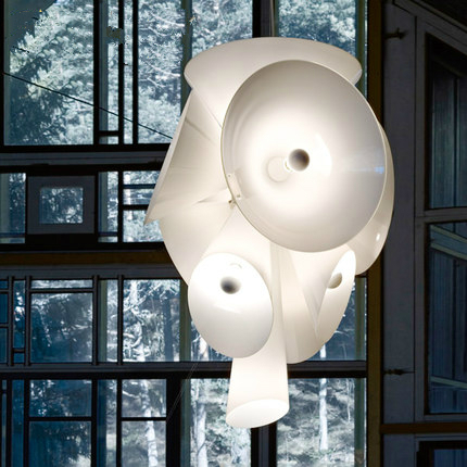 Modern Nebula White Drop Lights Nordic Pendant Lights Fixture Home Indoor Lighting Restaurant Hotel Club Hanging lamps 55cm*70cm dimmable pendant lights led crystal lighting hanging lamps indoor home light with remote control for hallway indoor home deco