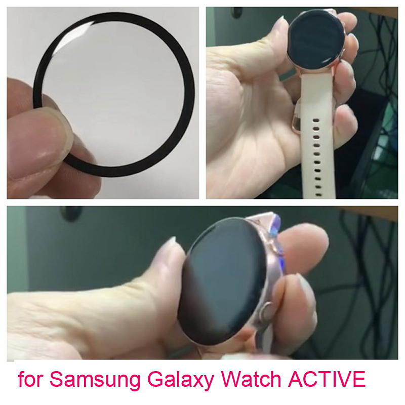 New Film For Samsung Galaxy Watch ACTIVE Active Full-screen Watch Film 3D Curved Flexible Glass Protective Film Active 2 40 44mm