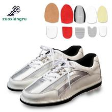 Professional Unisex Bowling Shoes Right & Left Hand Anti-skid Outsole Sneakers Genuine Leather Breathable Reflective Shoes цена