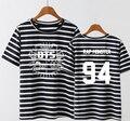 Kpop bts bangtan meninos nome do membro impressão listras da camisa de t um tamanho de verão de manga curta o pescoço da menina t-shirt pequeno tamanho