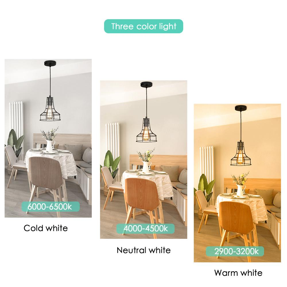 Image 5 - Modern Pendant Light Black Iron Hanging Cage Vintage Led Lamp E27 Industrial Loft Retro Dining Room Restaurant Bar CounterPendant Lights   -