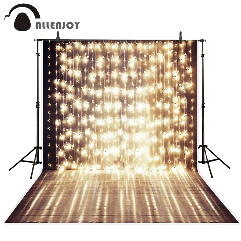 Allenjoy 5x7ft Shiny Stage Photography Backdrop a string of festive lights wedding template background for photo studio Custom a cat a hat and a piece of string