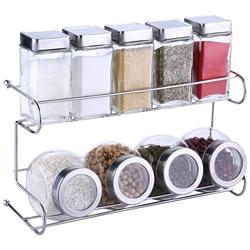 Cozinha spice garrafa conjunto tempero jar prateleira spice rack 10 pçs/set