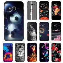 Ojeleye Fashion Black Silicon Case For Samsung Galaxy J1 Mini Prime Cases Anti-knock Phone Cover
