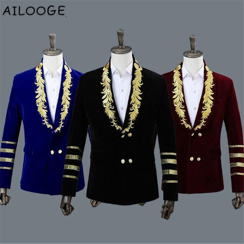 Chaqueta Black Pour Homme Masculinas Jaquetas Brodé blue Hombre Hommes Manteau Vestes Veste Velours Chaquetas burgundy w4YpqI7RW