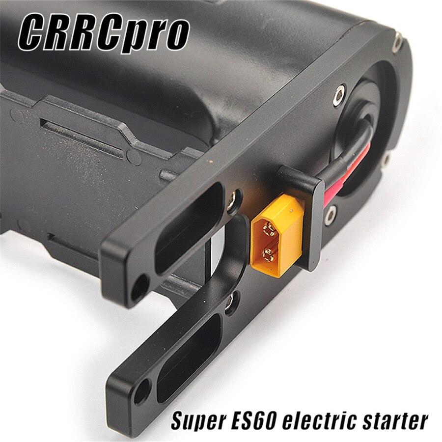 Crrcpro es60 starter para 15cc-62cc gás nitro motor rc avião helicóptero